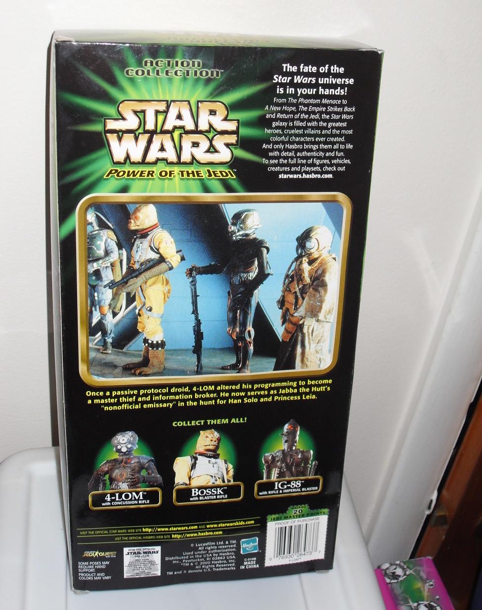 2000 Star Wars  Bounty Hunter  4 Lom 12 Inch Figure In Box