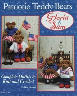Knit & Crochet Pattern PATRIOTIC TEDDY BEARS Complete Outfit