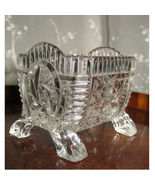 Antique : An unusual and very attractive vintage glass Table Salt on 4 legs - £15.71 GBP