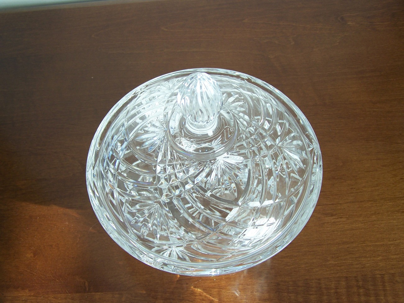Lead Crystal Dish with Cover