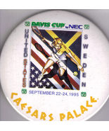 DAVIS CUP by NEC 1995 at CAESARS PALACE Pinback  But - $9.95
