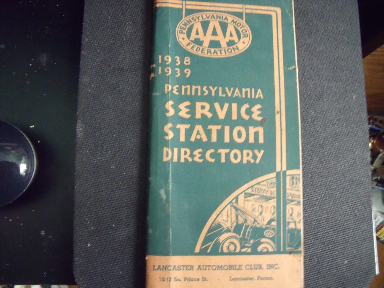 Primary image for AAA 1938-1939 Lancaster County PA Service Station Directory