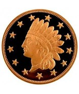 (5 )  AVDP Oz.999 Fine Copper Indian Design 1R... - $9.79