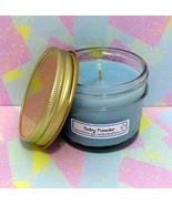 Baby Powder PURE SOY  4 oz Jelly Jar Candle - $5.25