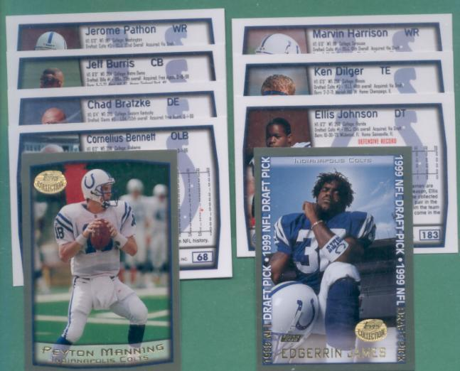 1999 Topps Indianapolis Colts Football Team Set