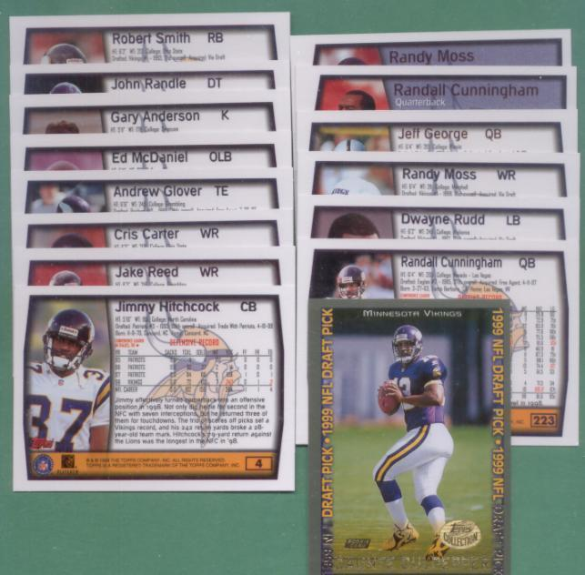 1999 Topps Minnesota Vikings Football Team Set