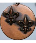 VINTAGE Signed REBAJES Copper Medallion PENDANT w Chain - $82.00