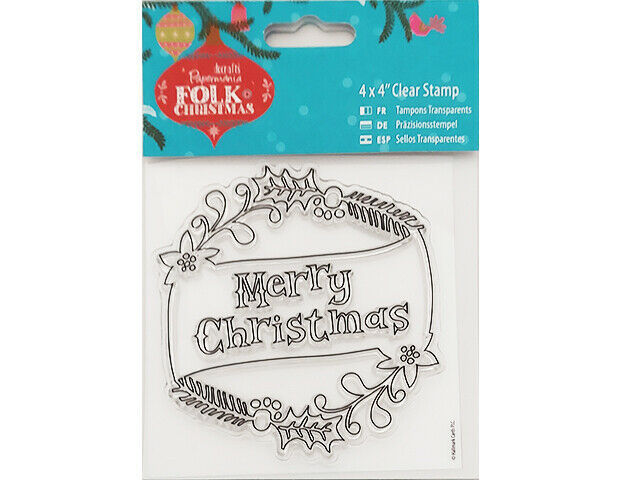 """Docrafts Papermania Folk Christmas 4x4"""" Clear Stamp #907951"""