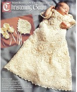 VICTORIAN IRISH ROSE CHRISTENING SET CROCHET PATTERN  - $35.99