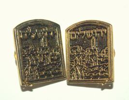 Tallit Clips Prayer Shawl Holder Jerusalem View Judaica  image 2