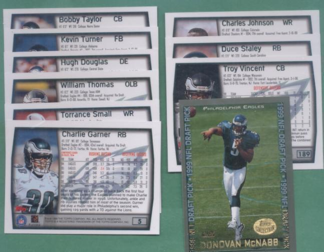 1999 Topps Philadelphia Eagles Football Team Set