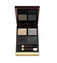 TOM FORD Eye Color Eye Shadow Quad PaletteTITANIUM SMOKE 10 Gold Grey Bl... - $69.50