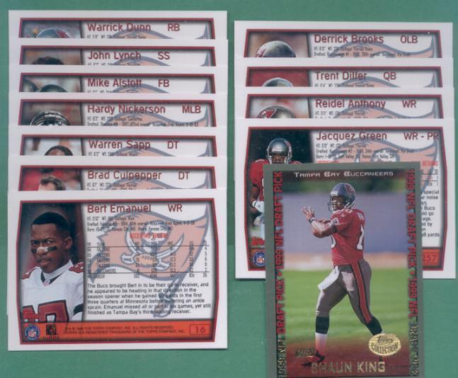 1999 Topps Tampa Bay Buccaneers Football Team Set