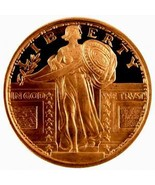 (5) AVDP Oz.999 Fine Copper  Design  Liberty  1REFCO - ₨633.75 INR