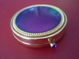 Vintage Gold & Purple Estee Lauder Powder Compact - Rare  - $24.99