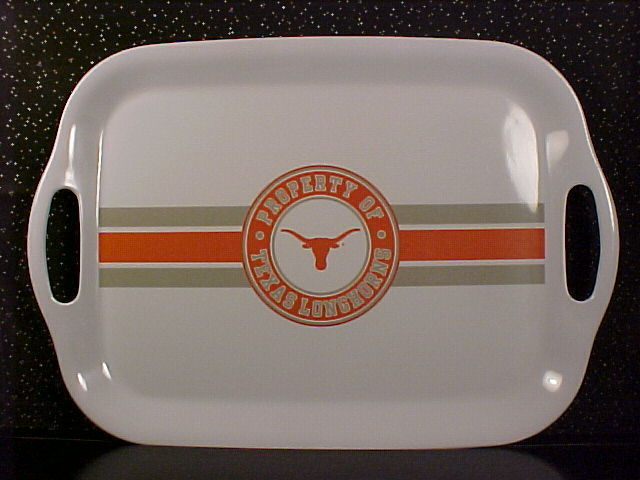 *TEXAS LONGHORNS*LARGE TRAY*SERVING PLATTER*NEW*