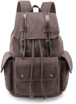 Weekend Shopper Flap Bookbags Rucksack Vintage Canvas Backpack For Wome... - $55.59