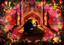 Jigsaw puzzle pure Pure white Beauty and the beast The beginning of love - $21.88