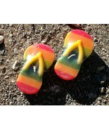 "Colorful ""Pair O' Flip Flops"" Candles - Set of Two (2) - Brand New In Pa... - $1.99"