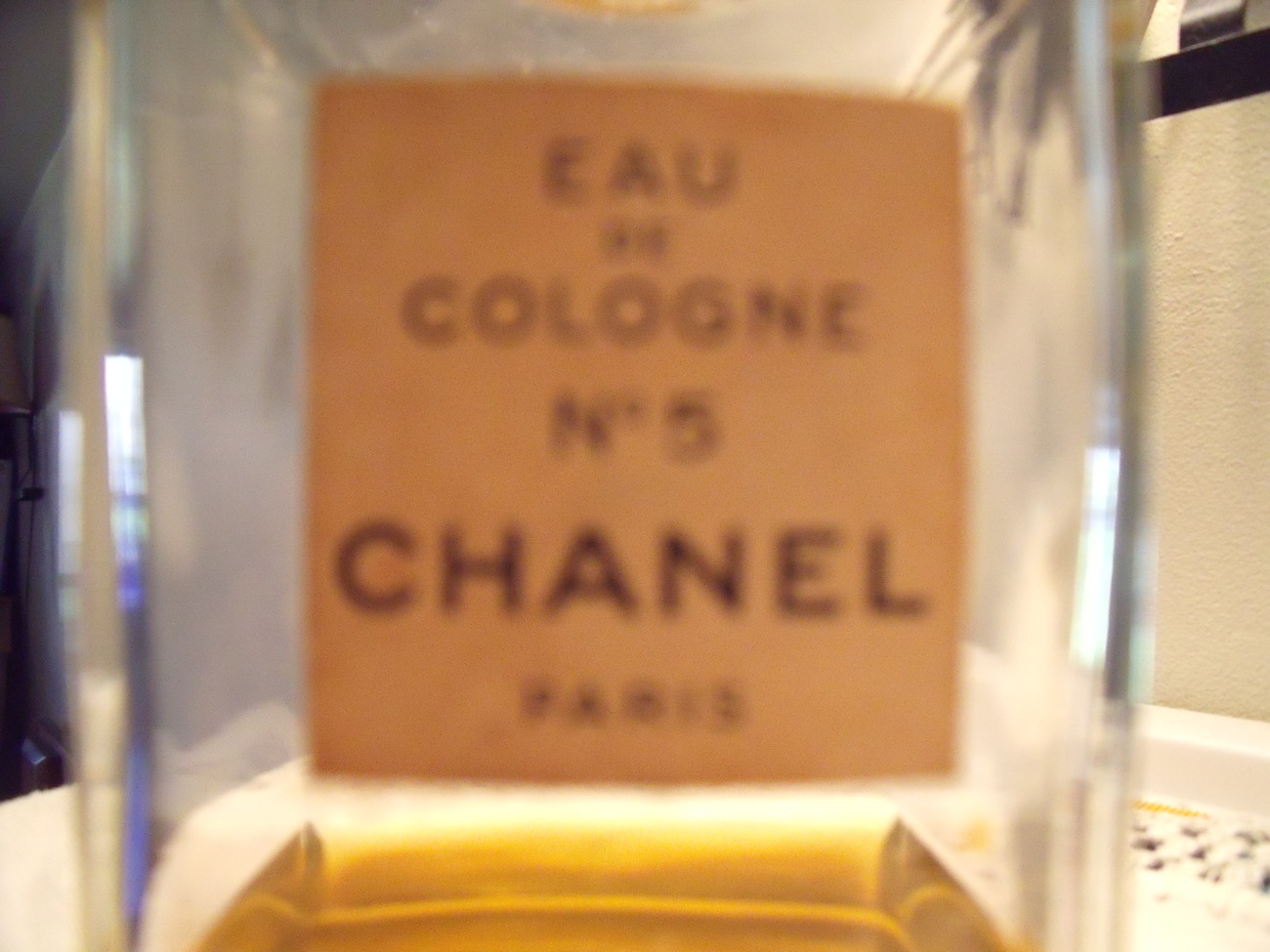 Chanel No. 5 eau de Cologne Paris Vintage Bottle