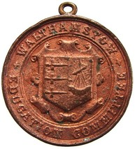 1907 BRITISH WALTHAMSTOW EDUCATION COMMITTEE ATTENDANCE BRONZE MEDAL  - $9.99