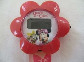 Disney You're So Cute Digital Wristwatch Pink Bows Buckle Band Floral - $29.00