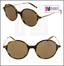 Oliver Peoples Corby OV5347SU Cocobolo Brown Gold Round Sunglasses 5347 Unisex - $202.95