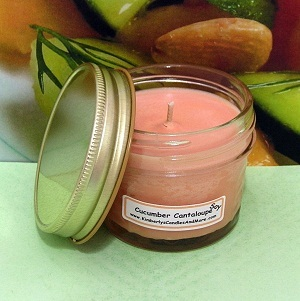 Cucumber Cantaloupe PURE SOY  4 oz Jelly Jar Candle
