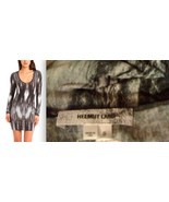 HELMUT LANG Vertebrae Greyscale jersey knit gray DRESS NWT S Made in USA... - $275.00