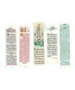 5 Religious Bookmarks Vintage ca. 1950 Set B - $8.99