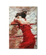 Seekland Art Hand painted Large Sexy Lady with Red Dress Abstract Canvas... - $124.62