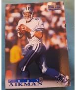 1996 Pro Line #1 Troy Aikman Dallas Cowboys Football Card - $1.00