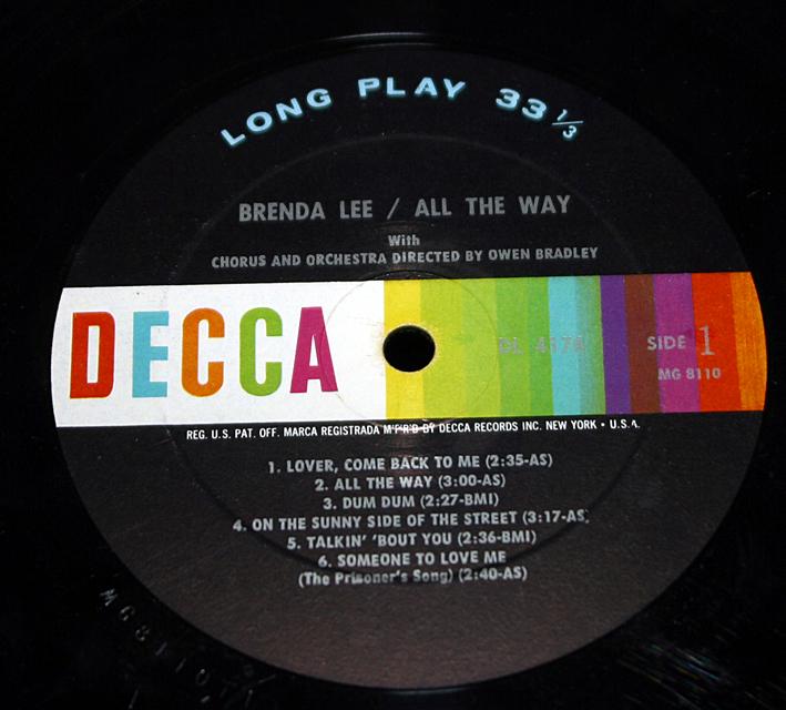 "Brenda Lee ""All The Way"""