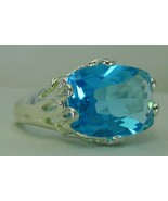 Aqua Blue Faceted Blue Topaz Oval Sterling Silv... - $81.60