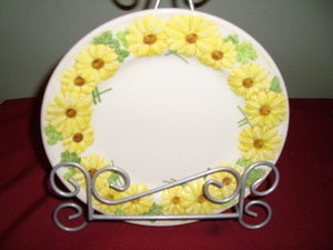 3 Vtg Metlox Oh Susanna Black Eyed Susan Poppy Trail Plates Yellow Daisy Flowers