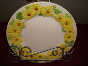 3 Vtg Metlox Oh Susanna Black Eyed Susan Poppy Trail Plates Yellow Daisy Flowers