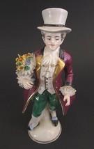 """Vintage Frankenthal Porcelain Lace Man Figurine Germany  7"""" - $32.00"""