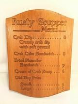 Rusty Scupper Menu Vintage Carved Wood Board - $39.59