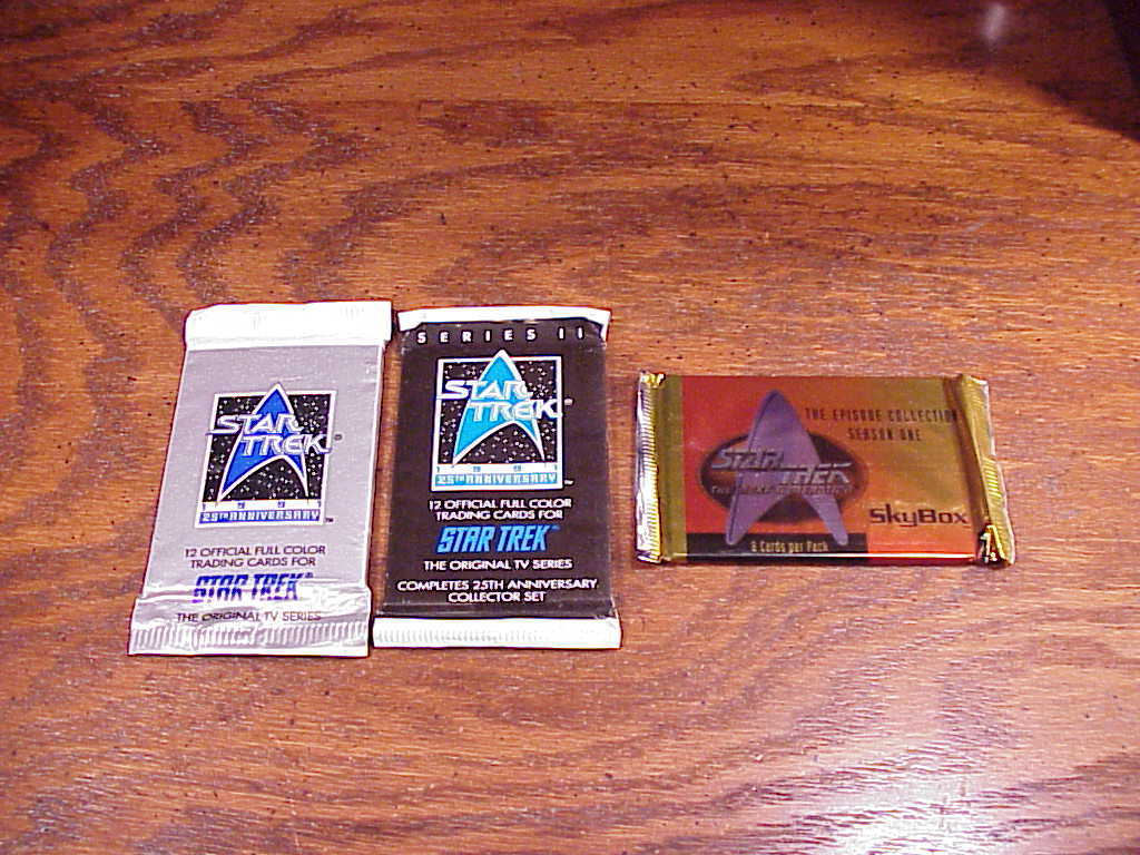 Primary image for Lot of 3 packs of various Star Trek Card Packs, 25th Anniversary I II, TNG