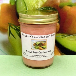 Cucumber Cantaloupe PURE SOY Jelly Jar Candle