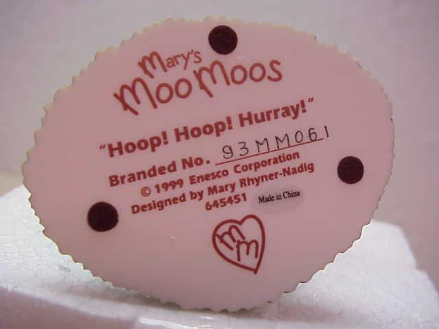 Mary's Moo Moos Amish Boy Playing with Hoop ENESCO