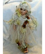 """14"""" porcelain Fairy Doll with white blonde hair - $8.00"""