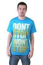 Tavik Uomo Turchese Don'T Stop Won'T Lago Acqua Persistence Figura T-Shi... - $13.48