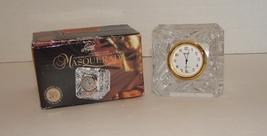Durand Masquerade Lead Crystal Desk / Shelf Clock in Box - $19.99