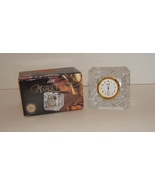 Durand Masquerade Lead Crystal Desk / Shelf Clock in Box - $19.99