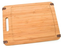 Lipper International 8811 Bamboo Wood Kitchen Cutting Board With Silicon... - £11.65 GBP