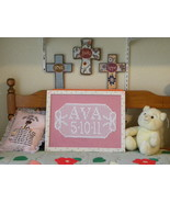 Crochet Name Plaque - $20.00