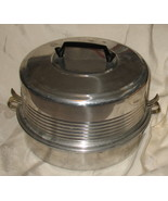Vintage Regal Quality Aluminum Cake and Pie Carrier 3 Piece 1950's - $17.99