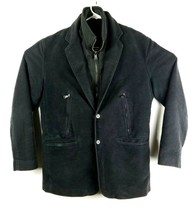 Express Design Studio Mens Jacket Size Small  Black with Zip Out Vest 2 ... - $27.69