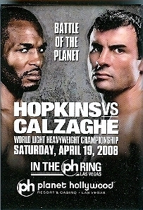 Primary image for Hopkins Vs. Calzaghe PLANET HOLLYWOOD Pinback Button